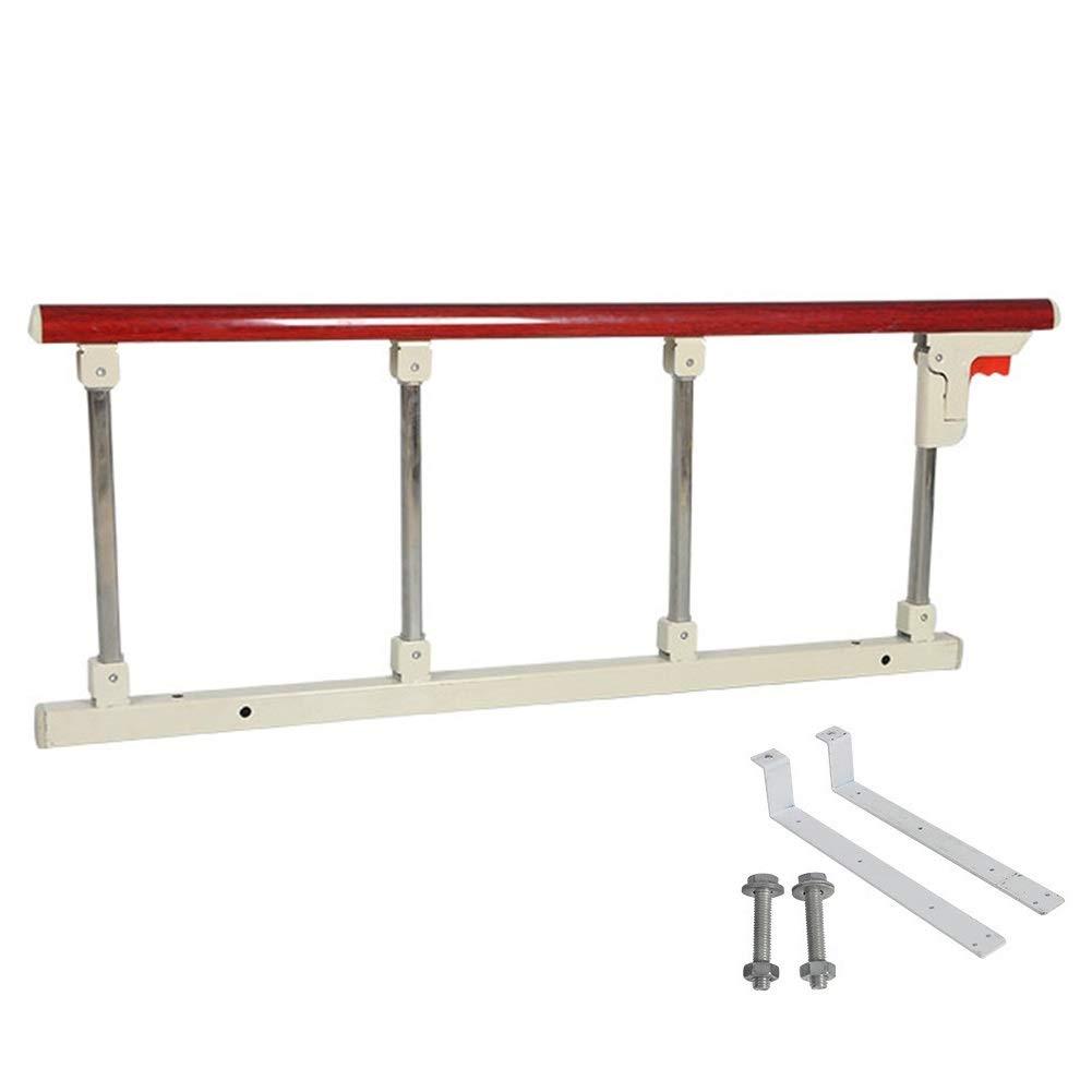 ベッドフェンス, 高齢者のためのベッドの柵の援助のハンドル - 大人、高齢者、ハンディキャップ - 95 cmの長さのための病院用等級の折る安全ベッドの柵 (色 : Red Wooden Grain)  Red Wooden Grain B07QJ12FBL