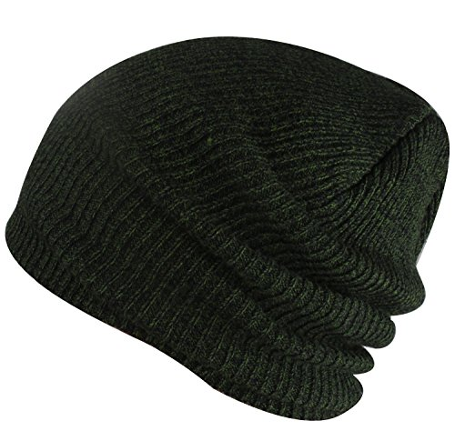 Paladoo Slouchy Winter Hats Knitted Beanie Caps Soft Warm Ski Hat Dark Green