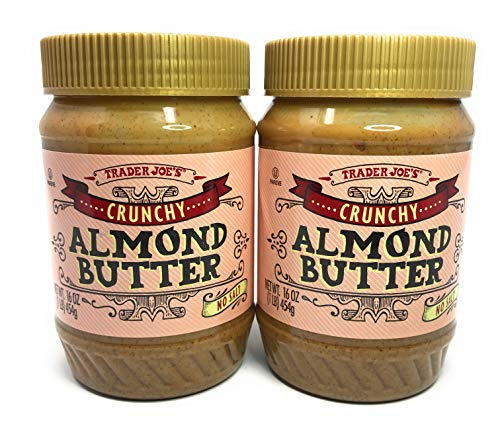 (Trader Joes Crunchy No Salt Almond Butter, 16 Ounce (Pack of 2))