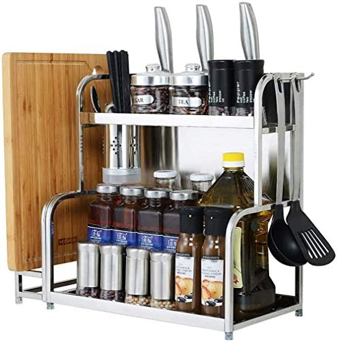 304ステンレス鋼キッチンラックランディング多層ストレージ油塩ソース酢ナイフキッチンアクセサリーとリビングルーム
