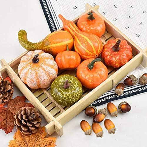 piccole bacche di zucca artificiali ghirlande fai da te ghirlande di acero decorazioni per Halloween 50 ghirlande per feste di Halloween