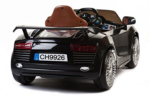 Audi-R8-Black-style-CH-9926-Battery-Operated-Ride-On-Car-Toy-With-Remote-Control-MP3