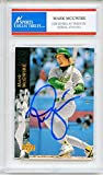 Mark McGwire Autographed Oakland Athletics Encapsulated Trading Card - Certified Authentic