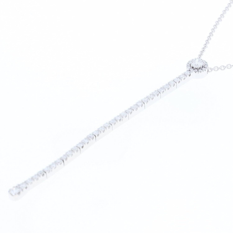 (ポンテヴェキオ) Ponte Vecchio ライン ネックレス K18ホワイトゴールド/ダイヤモンド ダイヤモンド レディース 中古 [PD2] B07D275JHF