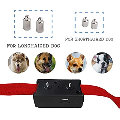 [New Version] Bark Collar TBI 2017 w/ New Chip. BEST Dog Shock / Vibration Anti-Barking Collar. No Bark Control with 5 Levels for Small / Medium / Large Dogs / Electronic Pet Safe Stop Device