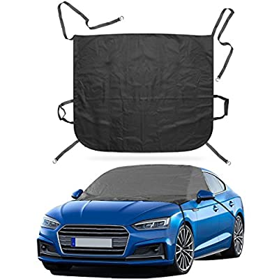 Ohuhu Windshield Snow Cover Automotive Windshield Ice Covers Car Frost Windshield Cover Waterproof Outdoor Rain Windshield for SUV