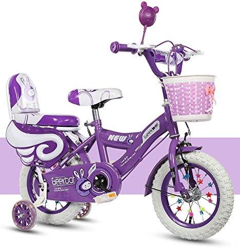 GEEKBOT Bicicleta niña 14 Pulgadas - Niño 4-9 años de Edad - Neumático Inflable - Ajuste cómodo - Pequeño cableado - Blanco Tire Princess Bike: Amazon.es: Deportes y aire libre