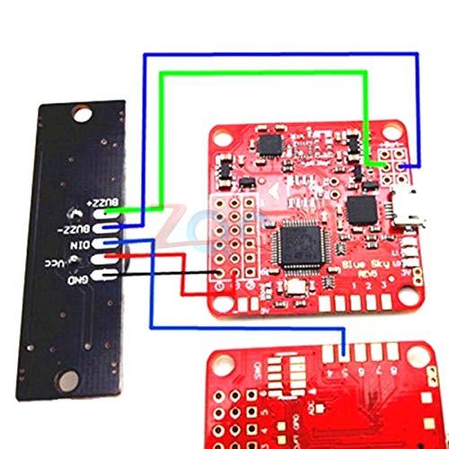 2 in 1 WS2812B LED RGB /& 5V Active Buzzer Flight Controller FPV NAZE32 Skyline32