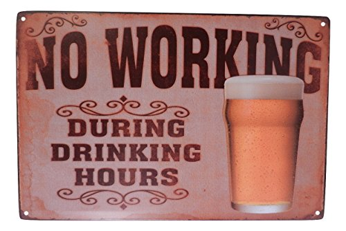 Beer Alcohol Drinking Funny Tin Sign Bar Pub Diner Cafe Wall Decor Home Decor Art Poster Retro Vintage - Sign Pub Bar Decor