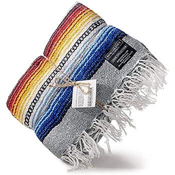 Amazon.com: Manta mexicana Falsa – Manta de yoga de diamante ...