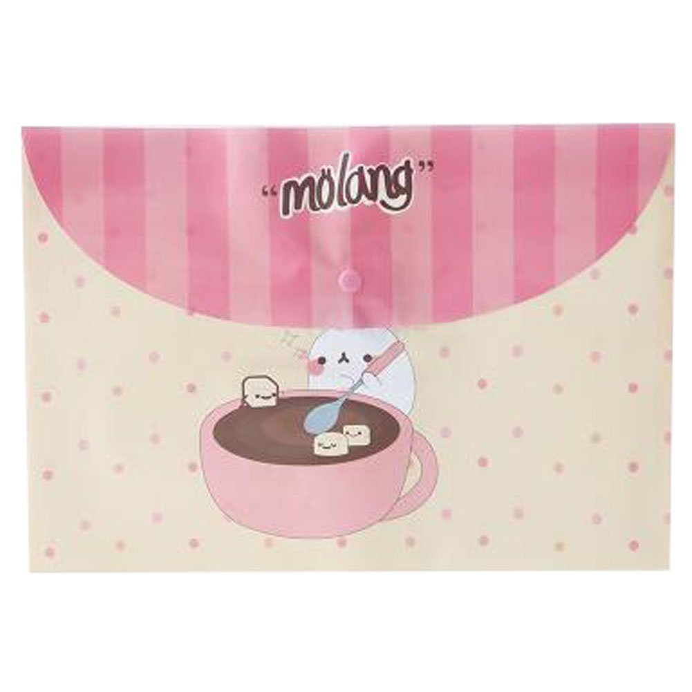 10PCS Cute File Bag Stationery Bag Pouch File Envelope for Office/School Supplies, Rabbit G