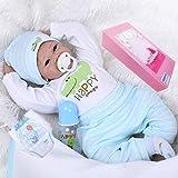 NPKDOLL Reborn Baby Dolls Boy 22' Cute Realistic Soft Silicone Vinyl Dolls Newborn Baby Dolls with Clothes