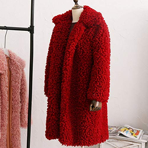 Doingshop Wine Cappotto Red Donna Coat women qZS81
