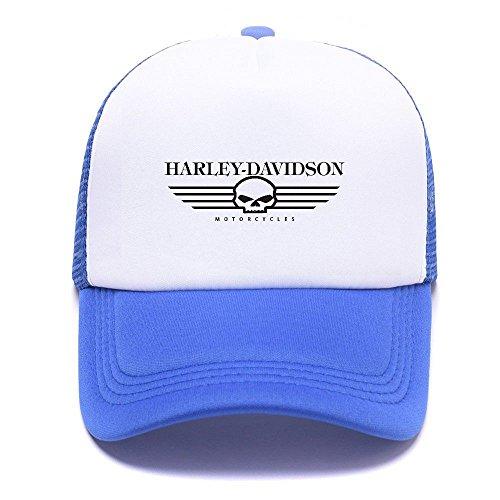 Harley D Black Baseball Caps Gorras de béisbol Trucker Hat Mesh Cap For Men Women Boy Girl 012 Blue