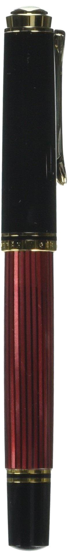 PELIKAN Souveran M400 Fountain Pen, Medium, Black/Red (904920)
