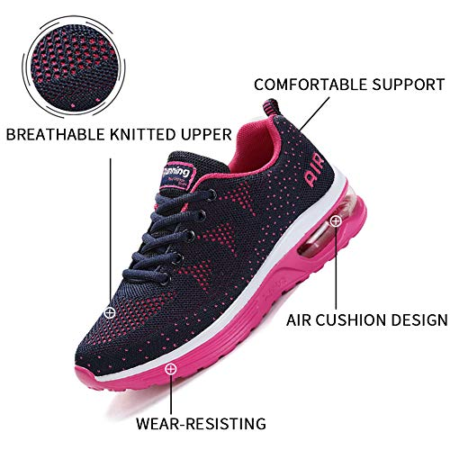 Lamincoa Women's Athletic Running Shoes Air Cushion Mesh Sneakers Lightweight Tennis Sports Breathable Walking Easy Shoes Outdoor