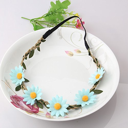 Pyrsun(TM) Stylish Women Girls Floral Headband Bohemia Hair Band Flower Garland Wedding Prom Head wrap Hair Accessories Elastic Hairbands by Pyrsun