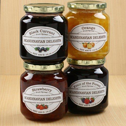 Elki's Gourmet Scandinavian Delights Raspberry/Ruhubarb Spread Preserves (Raspberry/Ruhubarb, 13.4 (Gourmet Raspberry)