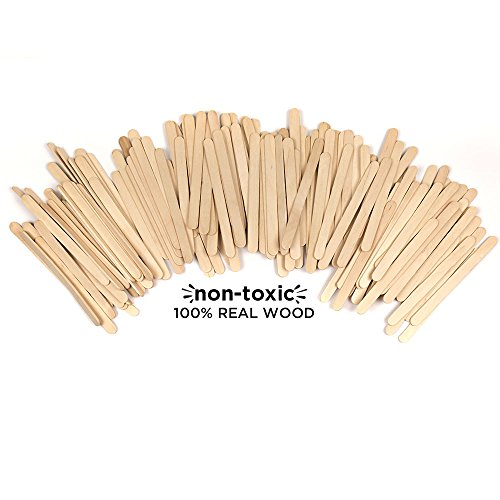 Horizon Group USA Classic Pine Wood Sticks for Craft, 4.5 inch (Pack of 200), Assorted