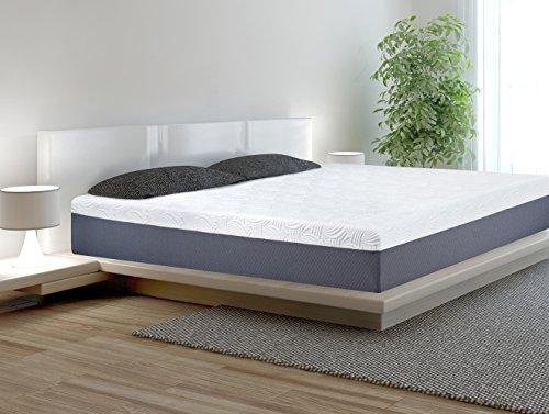 Olee Sleep 11 Inch Multi-Layered Foam Mattress (Full, White&Grey)