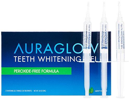AuraGlow Teeth Whitening Non Peroxide Gel Syringes
