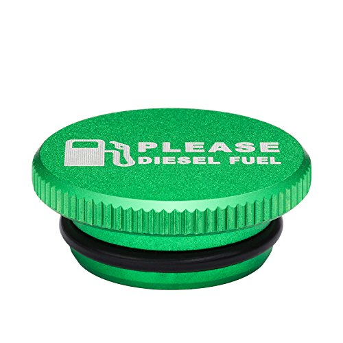 Billet Aluminum Green Fuel Cap for Dodge Ram Cummins with Magnetic (2013-2017) Auto Parts