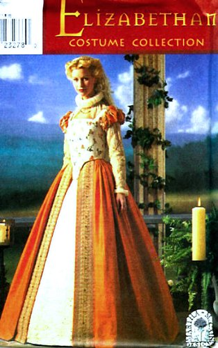 Simplicity 8881 Historical Elizabethan Gown Costume Sewing Pattern Size 6-12 ()