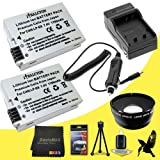 58mm Wide Angle + 2x Telephoto Lenses for Canon EOS Rebel T3i with Canon 55-250mm Lens + TWO Halcyon LP-E8 Batteries and Charger for Canon EOS Rebel T3i Bundle