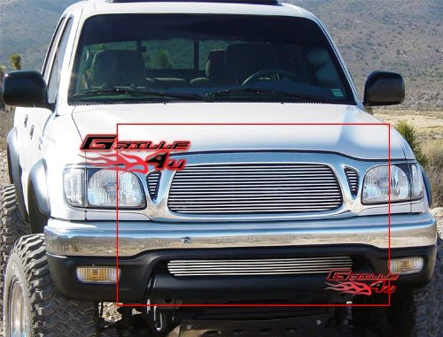 APS Fits 2001-2004 Toyota Tacoma Billet Grille Combo #T87772A