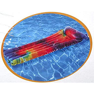 Rainbow Tie Dye Mat, Inflatable Pool Lounge, 72