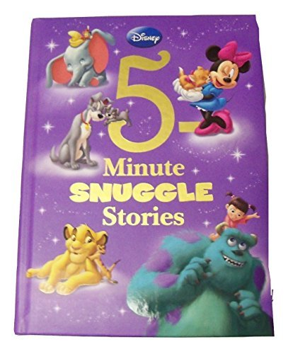 Disney Padded Educational Storybook Collection ~ 5 Minute Snuggle Stories (First Edition; 2013; Gold Foil Embellished Cover)