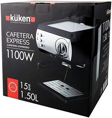 Kuken Cafetera Express 15 Bar 1,5 litros: Amazon.es: Hogar