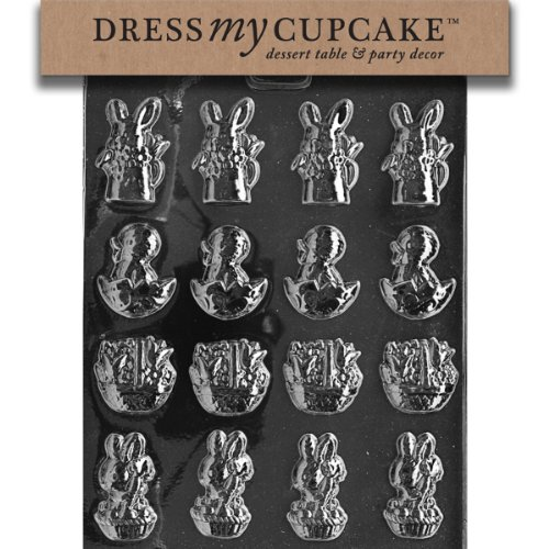 Dress My Cupcake DMCE004 Chocolate Candy Mold, Assortment with Basket, Easter (Basket Mold)
