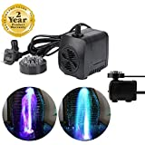 Shop amazon indoor fountain pumps jfq sunsine mini submersible water pump with 12 led colorful light for indoor fountain pool workwithnaturefo