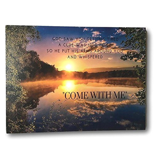 BANBERRY DESIGNS Quote Wall Canvas - Landscape LED Lighted Canvas Print - in Loving Memory Saying - Wall Picture - Poems Memory Loving