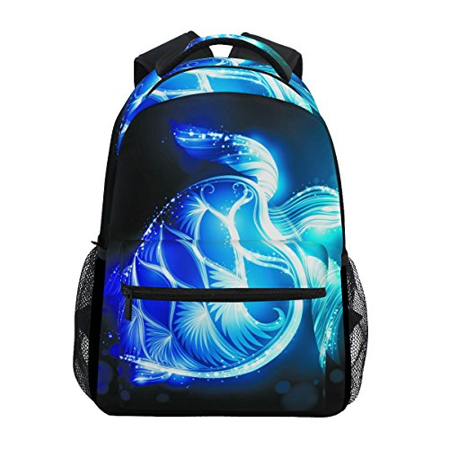 ZZKKO Daypack Book Camping School Bag College Hiking Backpacks Turtle Magic Sea Travel SwqpSr