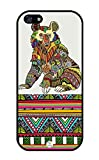 iZERCASE iPhone SE, iPhone 5S Case Lazy Bear with Aztec Pattern RUBBER CASE - Fits iPhone SE, iPhone 5S T-Mobile, Verizon, AT and T, Sprint and International