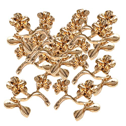 20x Metal Flowers Hair Charms Hairpin Corsage Hair Decoration DIY Accessories