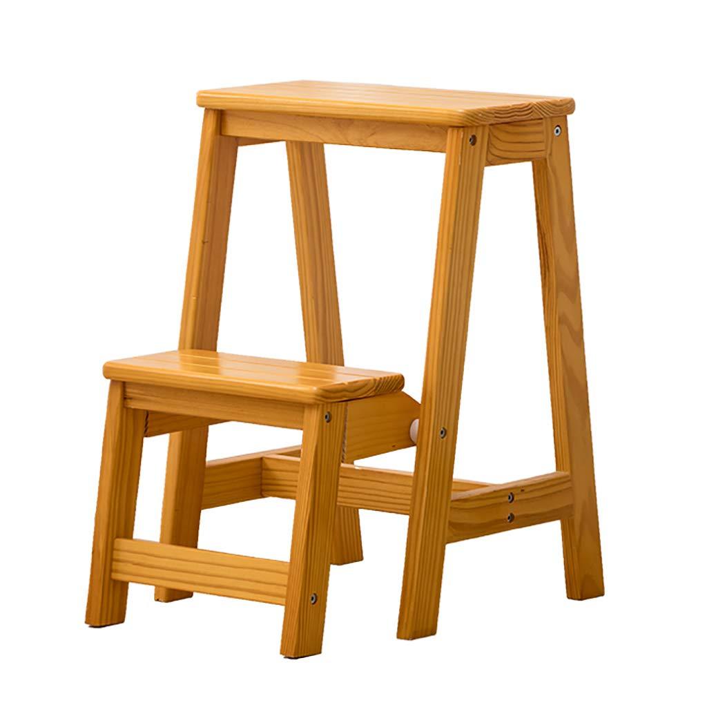 ステップスツール木製2ステップはしごフラワースタンド折りたたみラダー多機能屋内世帯小型のはしごを昇る (色 : A) B07HMRPJLC A