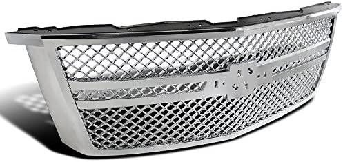 Spec-D Tuning For Chevy Silverado 1500 Glossy Black Front Bumper Hood Mesh Grille Grill ABS 1 PC