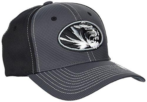 ZHATS NCAA Missouri Tigers Adult Men Grid Cap, X-Large, Gray/Team Color