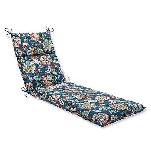 Pillow Perfect Outdoor Telfair Chaise Lounge Cushion, Peacock