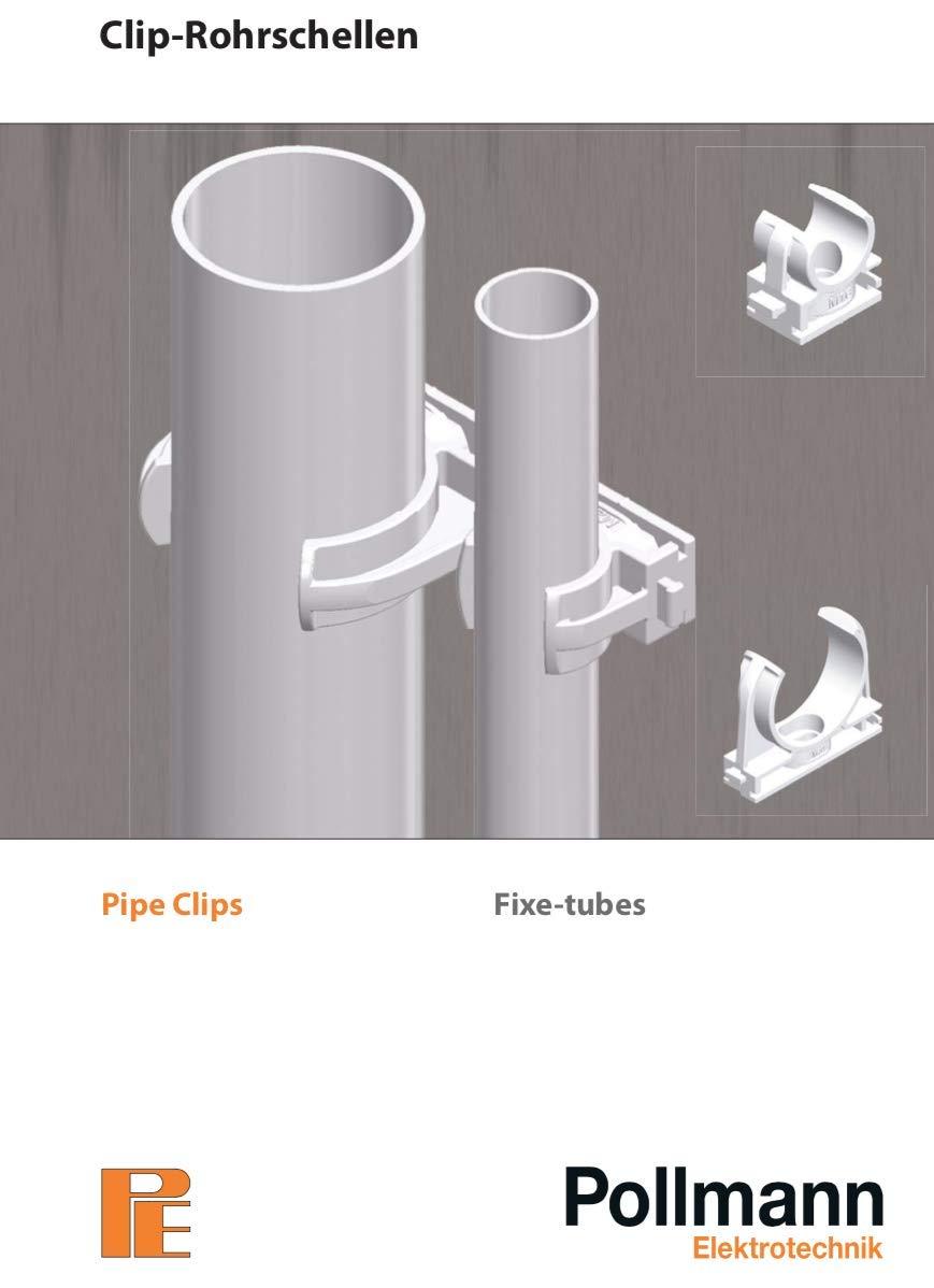 Rohrschellen Clip-Rohrschellen f/ür metrische Rohre Clip-Rohrschelle M16, Preis per St/ück