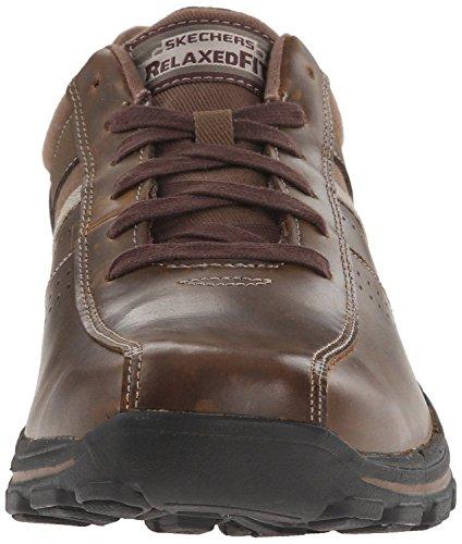 Skechers Braver Alfano Dark Brown UomoPelle Lace Up Scarpe