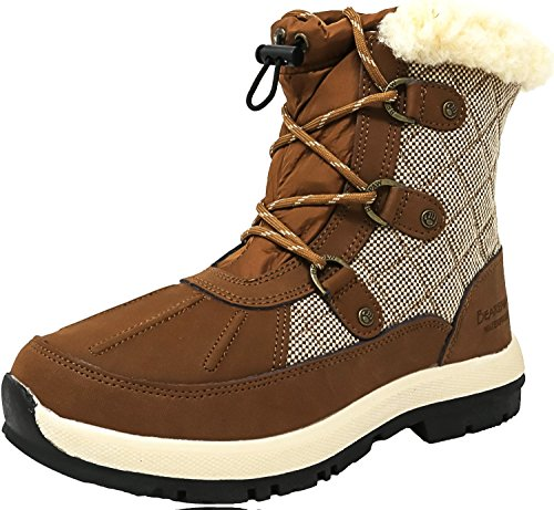 BEARPAW Women's Bethany Tan Ankle-High Leather Snow Boot - 6M