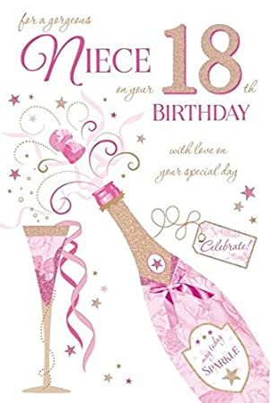 To A Special Niece 18th Birthday Card Amazoncouk Kitchen Home