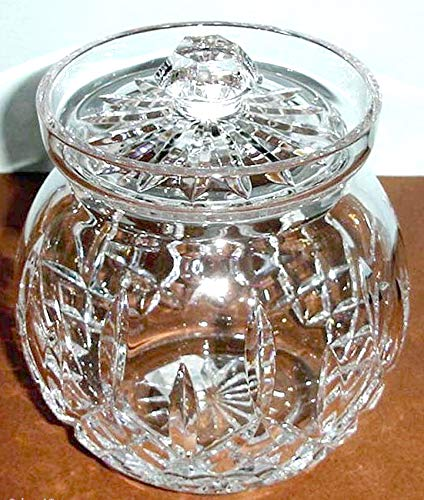 Biscuit Lismore Barrel Waterford (Waterford Crystal Lismore Round Biscuit Barrel Canister Cookie Jar New In Box)