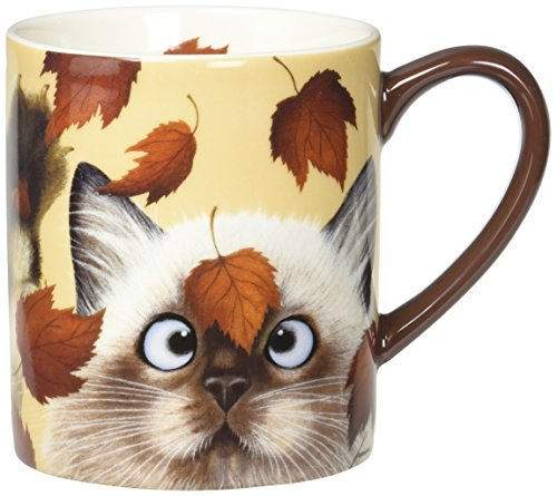 Lang Catching Leaves Mug by Lowell Herrero, 14 oz, Multicolored