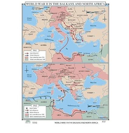 Map Of The World Before Ww2.Amazon Com World History Wall Maps World War Ii In Balkans