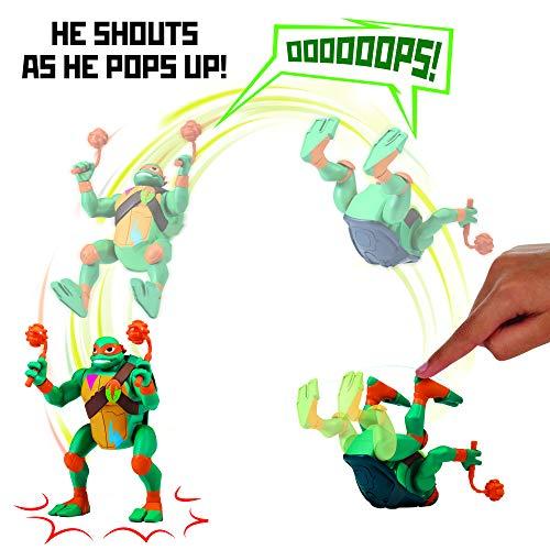 Rise of the Teenage Mutant Ninja Turtles Michaelangelo Pop-Up Ninja Attack Deluxe Figure -